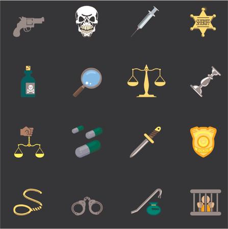 csi: Establecer una serie de elementos de dise�o o iconos relativos a la ley, el orden, la polic�a y la delincuencia.
