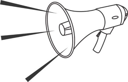 blab: Illustrazione di vettore di un megafono