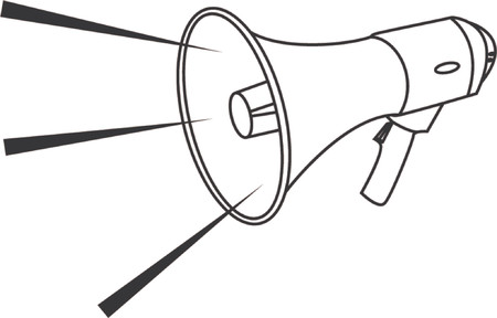 bullhorn:  Vector illustration of a megaphone Illustration