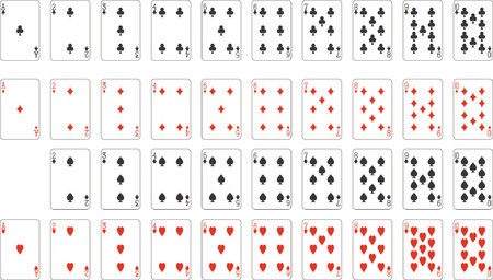 excluding:  Number and aces from deck of playing cards (excluding ace of spades), rest of deck available.