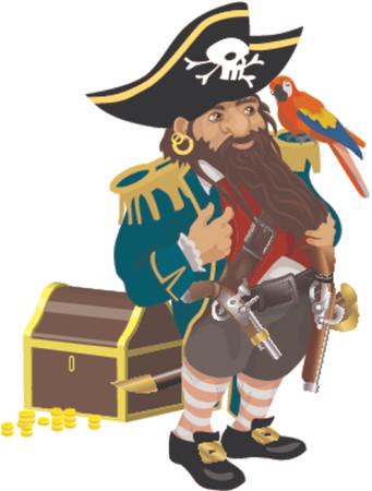 capitan de barco: un pirata Vectores