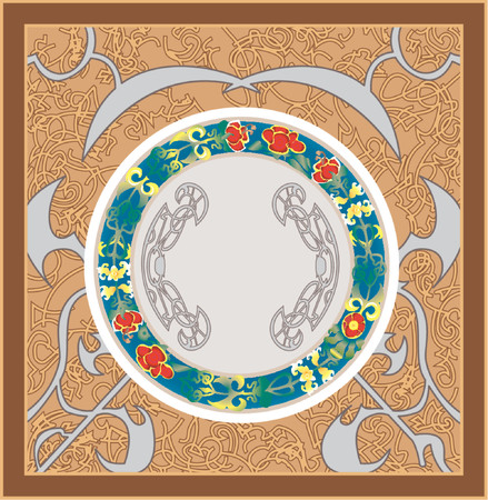 A very detailed floral background. Eps file has several layers making editing easy. Vector