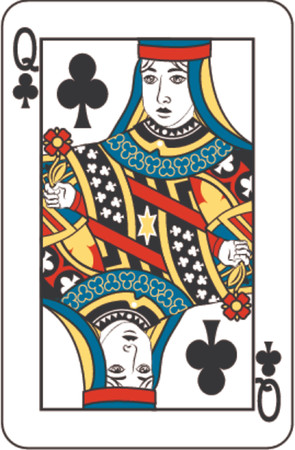 chances are: queen of clubs Illustration