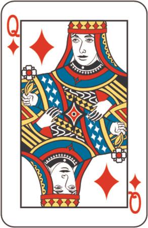 queen diamonds: regina di diamanti  Vettoriali