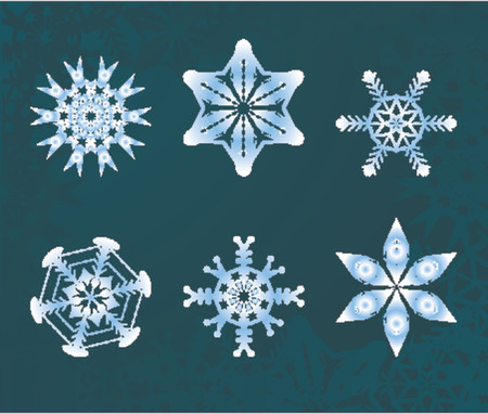 some snowflakes Vector