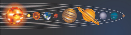 an illustration of our solar system Vector