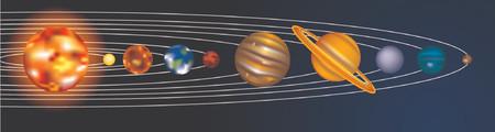 pluto: an illustration of our solar system Illustration