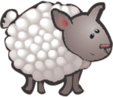 A cute sheep in a rough and ready style! No meshes used, all blends or gradients. Stock Vector - 654279