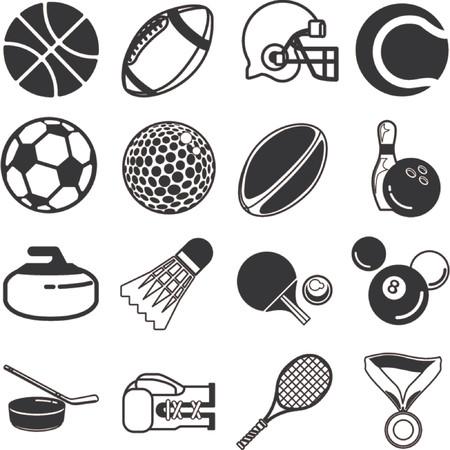 piscina olimpica: Serie de iconos o elementos de dise�o relacionados con los deportes