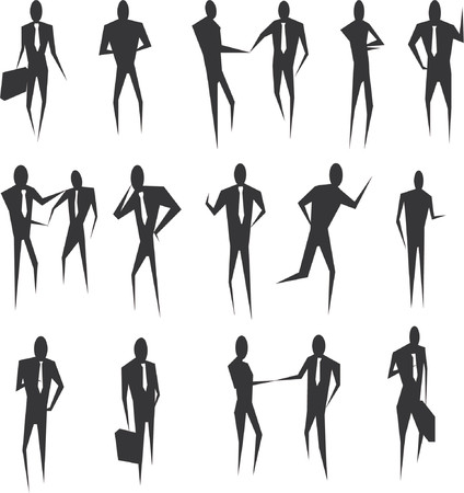 highly:  Lots of highly styalised abstract business people. Illustration