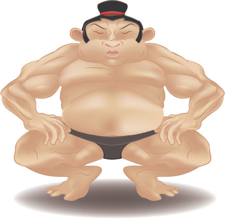 grappling: sumo wrestler