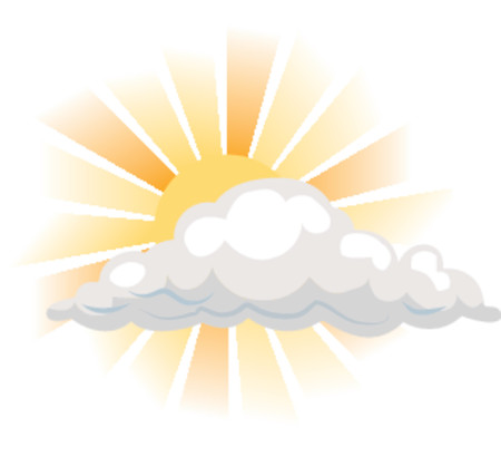 vapor: sun and cloud