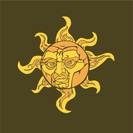 man in the moon: Vector illustration of a sun with a face