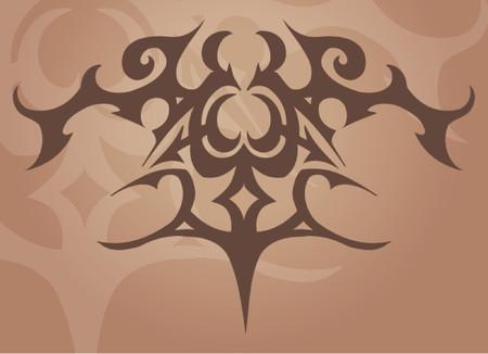 scarabeo: Un tatuaggio come elemento vettoriale  sfondo.  Vettoriali
