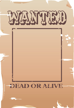 created: a vector wanted poster, type created for the poster.