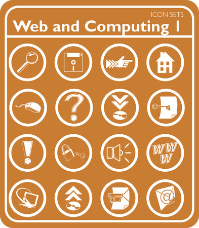 compact disc:  Web and Computing icon series set. Illustration
