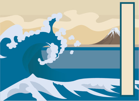 hokusai: Wave background