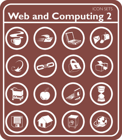 Web and Computing icon series set. Vector