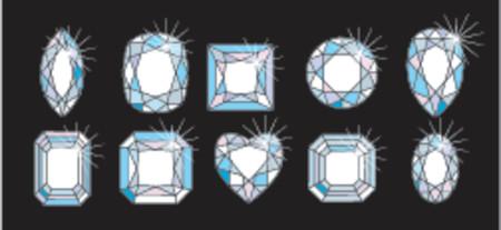 brilliant: Diamond Cuts and shapes
