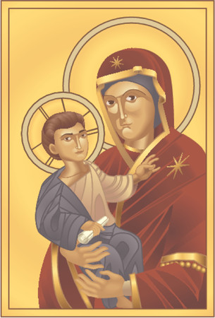 baptist: Madonna and Child. The Virgin Mary and Jesus Christ, all blends and gradients no meshes.