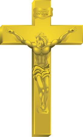 protestant: A crucifix, all blends and gradients no meshes Illustration