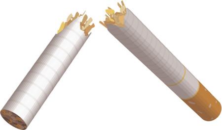 中毒性の: 壊れたタバコ。壊れたタバコのイラスト。使用するないメッシュ。  イラスト・ベクター素材