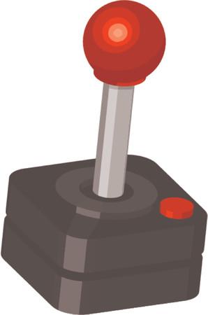 joypad: Ilustraci�n de un cl�sico jugador del joystick  Vectores