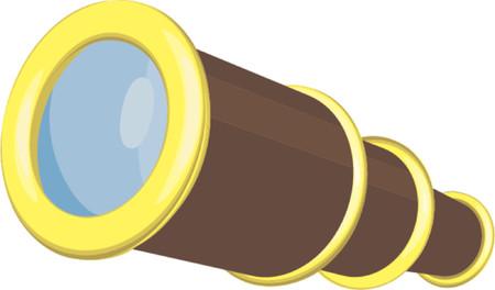 t�lescopes: Une illustration d'un t�lescope Illustration