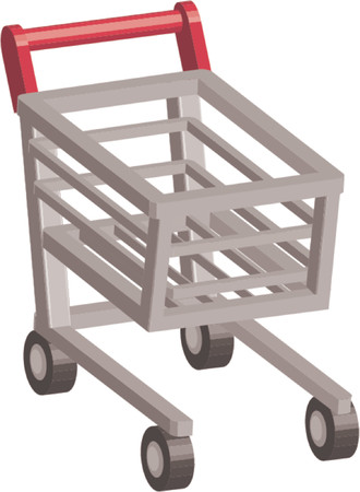 An illustration of Shopping cart trolley Stock Vector - 826120