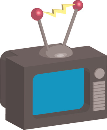 Retro style tv illustration  Vector