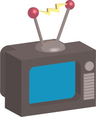 crt: Retro style tv illustration  Illustration