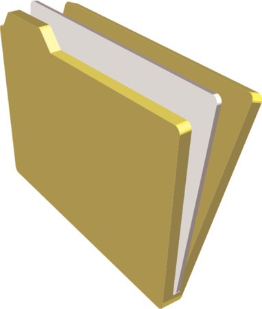 An illustration of a folder containing documents Vector