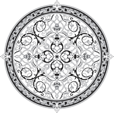 Arabic floral pattern motif. Arabic floral pattern motif, based on Ottoman ornament