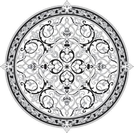 Arabic floral pattern motif. Arabic floral pattern motif, based on Ottoman ornament