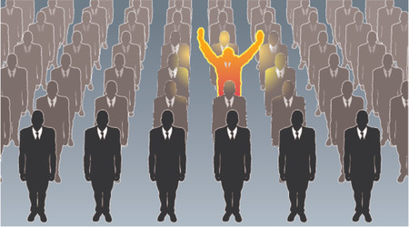 exceptional: Exceptional person. An exceptional person standing out from the crowd!