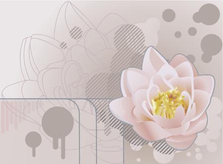 lirio acuatico: Futuro grunge loto background.A funky de fondo con un hermoso loto o lirio. No utilizan mallas.