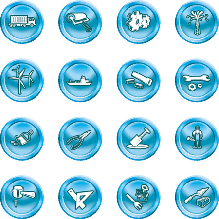 Tools and industry icon set. A series of icons relating to tools and industry. No meshes used. Stock Vector - 1103744
