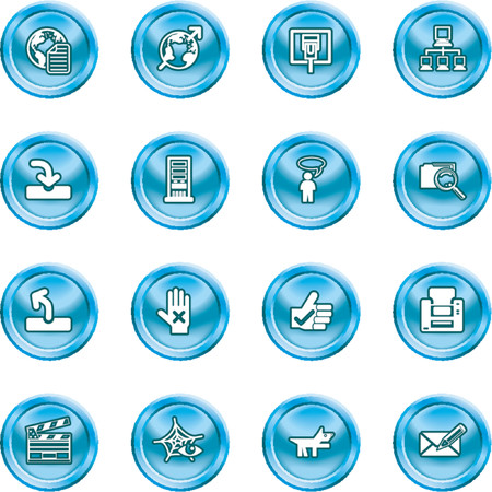 Website and Internet Icons. A set of shiny Website and Internet Icons Stock Vector - 1103747