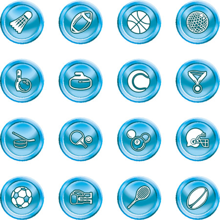 sport icons. series of icons or design elements relating to sports Illustration