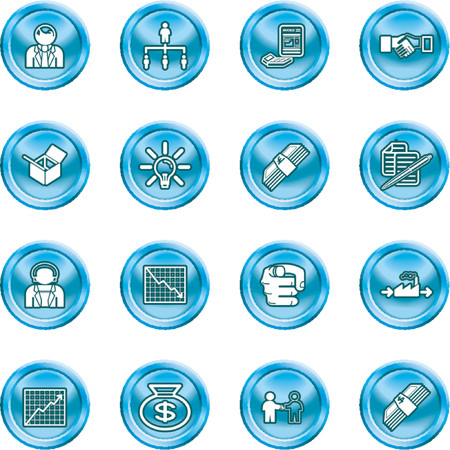 buisiness: Business web icon set. icons or design elements relating to business