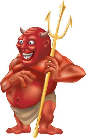 Devil. A vector illustration of devil with a trident Illustration