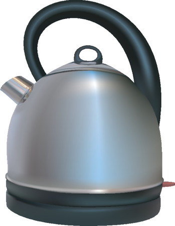 boiling water: Kettle. An illustration of a kettle or tea pot