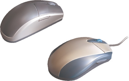 Computer Mouse. Vector illustrations of two computer mice Vector