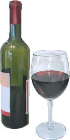 red wine bottle: Vino de color rojo. Ilustraci�n vectorial botella de vino tinto y copa de vino  Vectores