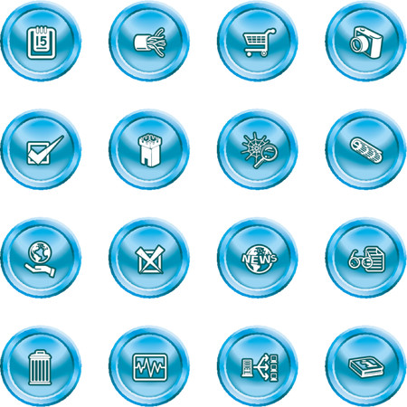 Computer and Web Icons A set of computer and web icons Vector