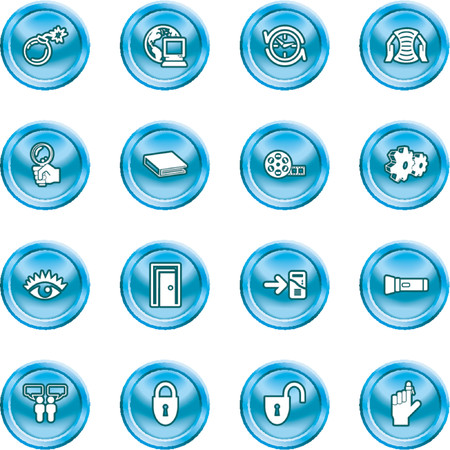 Computer and Internet Icons. A set of computer and internet icons Stock Vector - 1156251