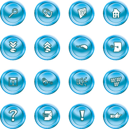 Computer and Internet Icons. A set of computer and internet icons Stock Vector - 1156253
