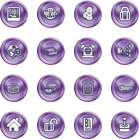 Internet y Computaci�n Medios de Iconos. Un conjunto de Internet y la inform�tica iconos de los medios de comunicaci�n. No utilizan mallas Foto de archivo - 1200661