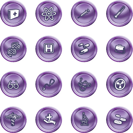 Medical and scientific icons. A set of icons related to medicine and science Stock Vector - 1200672