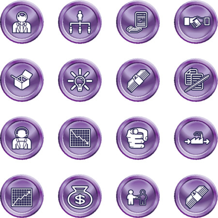 relating: Business web icon set. icons or design elements relating to business